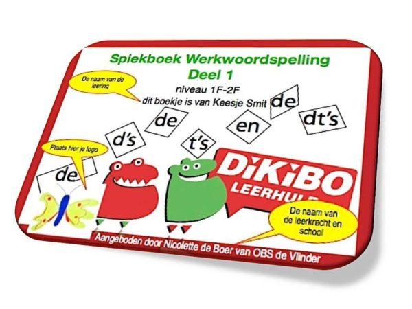 DiKiBO Spiekboek Werkwoordspelling deel 1